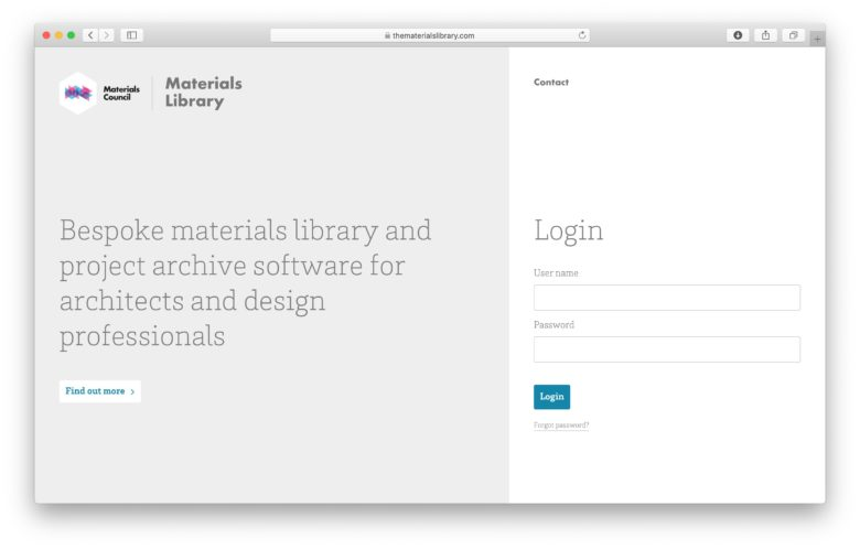 Materials Library Software