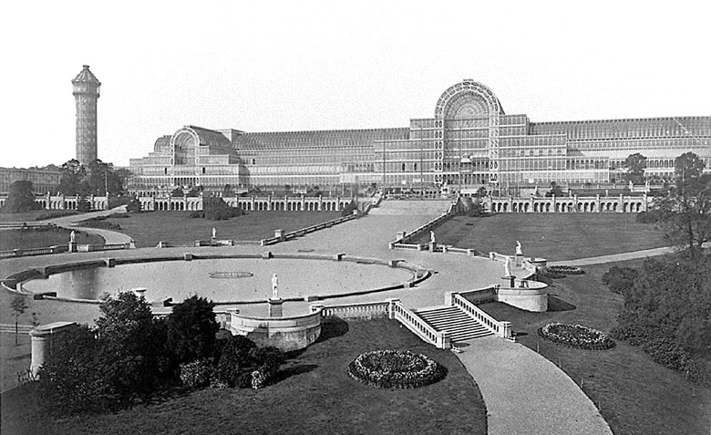 The Crystal Palace at its eventual home in Sydenham Hill