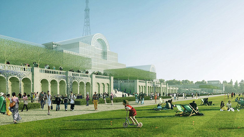 Illustrative visualisation of the new Crystal Palace