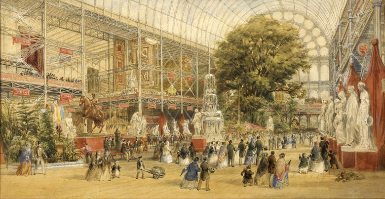 The interior of the Crystal Palace