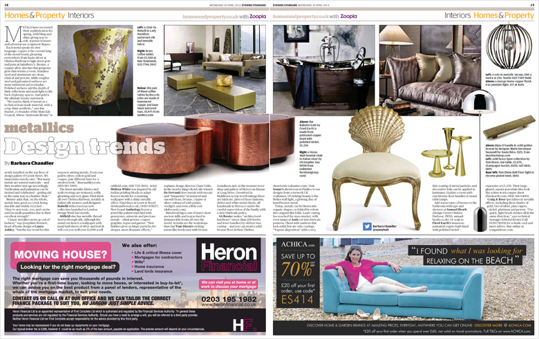 Materials Council in the Evening Standard