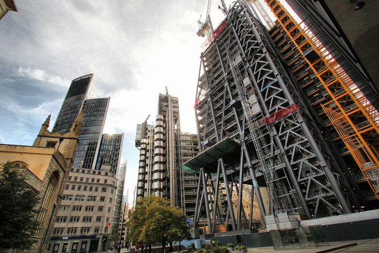 Leadenhall building's steel mega-frame