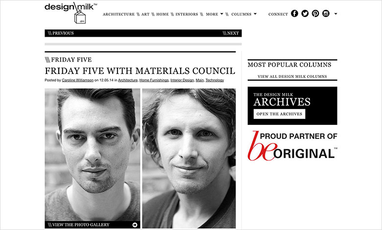 Materials Council's Friday Five